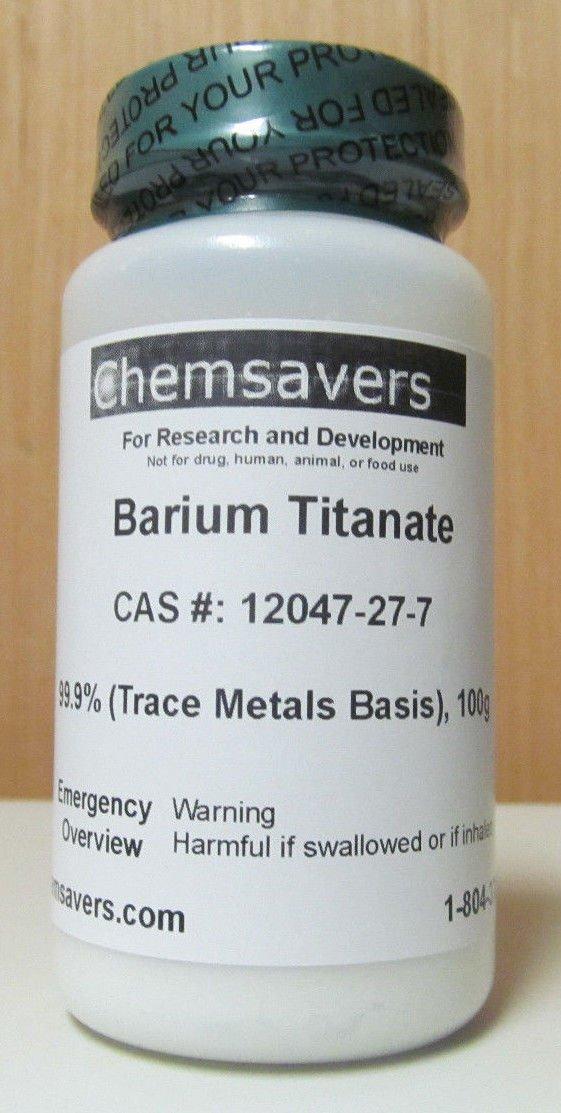 Barium Titanate, 99.9% (Trace Metals Basis), Certified, 100g