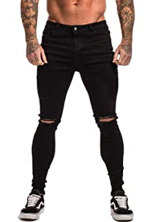 Gingtto Skinny Jeans For Men Stretch Slim Fit Ripped Distressed At