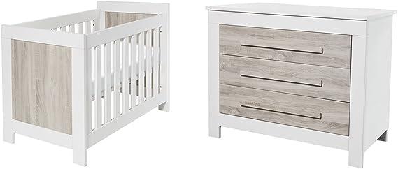 Cuna 60 x 120 y cómoda cambiador TWF Parma – madera: Amazon.es: Bebé
