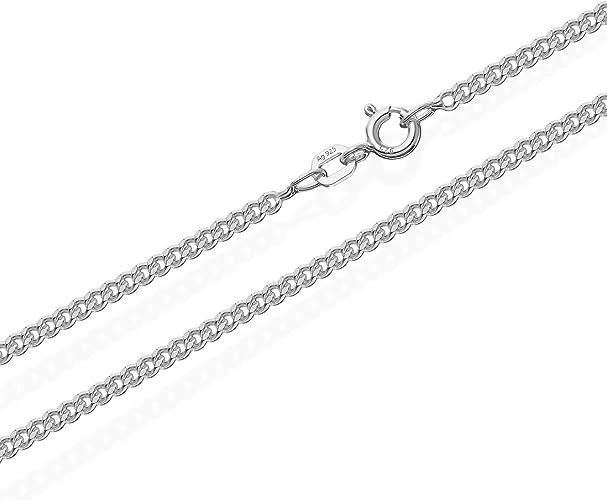 Panzerkette Silberkette 2mm Echt 925 Silber 50cm Sterlingsilber Kette Halskette