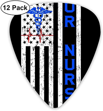 OR Nurse Distressed American.PNG 351 Shape Classic Picks 12 Pack For Electric Guitar Acoustic Mandolin Bass: Amazon.es: Instrumentos musicales