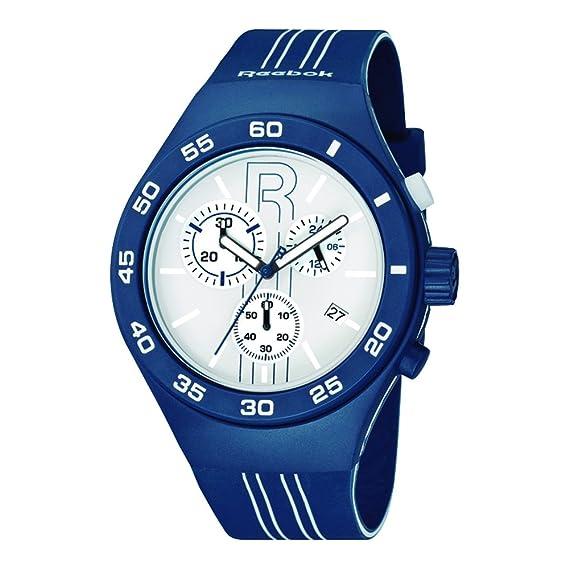 Amazon.com: Reebok Icon Rush Chrono Mens Sport Watch Midnight Blue and White RC-IRU-G6-PLIL-WL: REEBOK: Watches