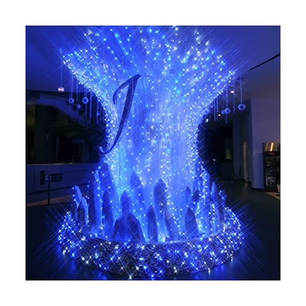 Ankway luci Stringa Solare, 200 LED 8 Modi Lunghezza 22M/72ft, Luci Energia Solare Impermeabili Interni e Esterni per Giardino Natale Matrimoni e Feste,Blu 3 spesavip