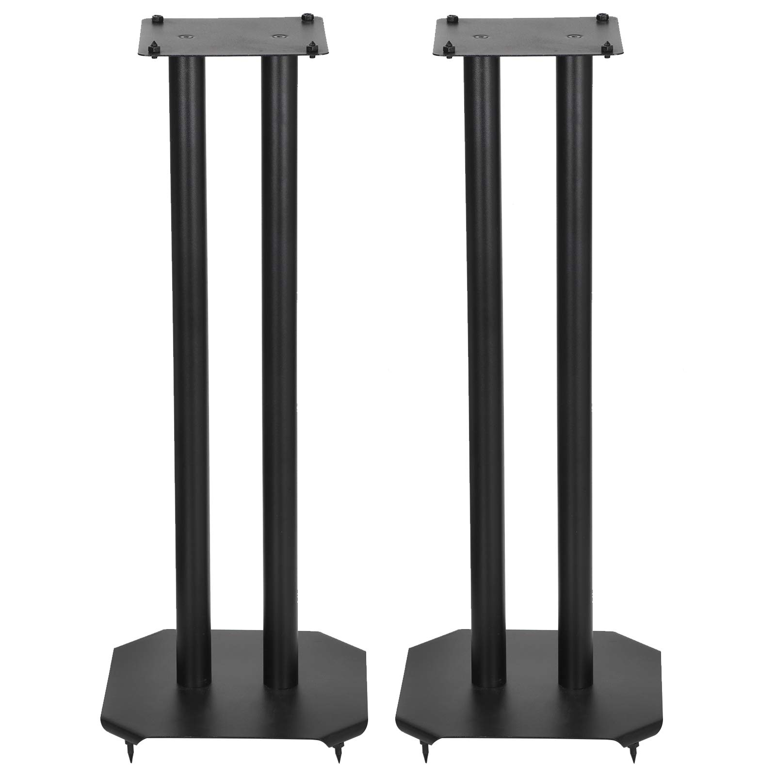 ZENY Set of 2 Heavy Duty Premium Universal Floor Speaker Stands for Surround Sound & Book Shelf Speakers Up to 22 lbs by ZENY
