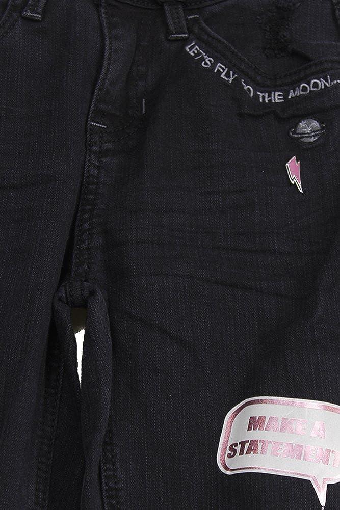 d72d47cf3c5df Amazon.com: Vanilla Star Juniors Black Embroidered Mid Rise Skinny Jeans:  Clothing
