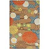 Safavieh Soho Collection SOH738A Handmade Brown and Multi Premium Wool Area Rug (5′ x 8′)