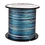 HERCULES Braided Fishing Line 500m 547yds 6lbs-100lbs Pe Superline 4 Strands (Blue Camo 6lb/2.7kg 0.08mm)
