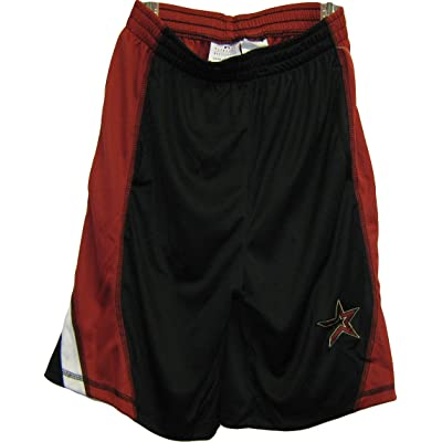 Houston Astros Black - White MLB Youth Warm-Up Shorts