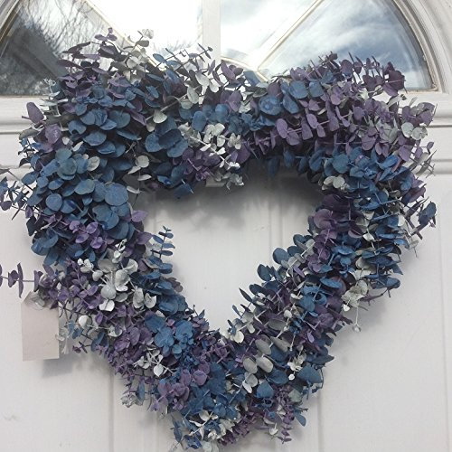 Frozen Love Heart Shaped Eucalyptus Wreath - heart shape wall art decor