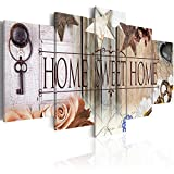 Canvas Art Design - Home Sweet Home Canvas Print Wall Art Home Office Decoration 5 Panels (A, 20inch x 40inch)