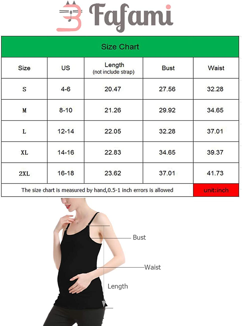 Black,L Fafami Maternity /& Nursing Tank Tops Cami Cotton with Build in Shelf Bra Clip Down for Easy Breastfeeding Summer Clothes 2 Pack