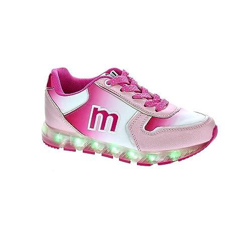 Mustang - Zapatillas Rosas Cordones con Leds: Amazon.es: Zapatos y complementos