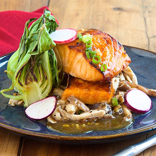 Salmon  Bulgogi  With Baby Bok Choy And Shiitake Mushrooms By Chefd  Dinner For 4