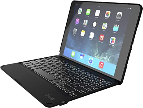 ZAGG Keyboard Folio Cover Case Backlit Keys Bluetooth for Apple iPad Air 2-Black
