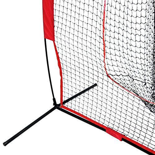 Super Deal 7'×7' Portable Baseball Softball Net w/Carrying Bag, Metal Bow Frame& Rubber Feet, for Training Hitting Batting Catching Practice by Super Dea (Image #4)