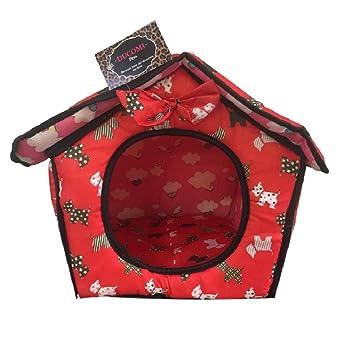 Ducomi® - Dogbnb – Caseta plegable de tela suave para perros y gatos