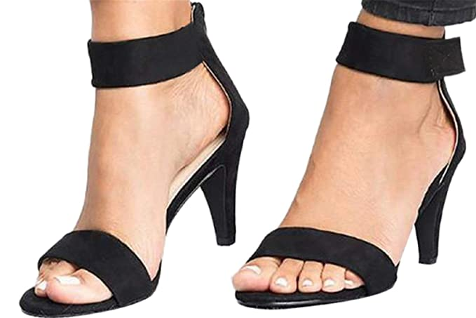 efd321a4f5ac6 Fainosmny Womens Thin High Heels Sandals Sexy Ankle Strap Ladies ...