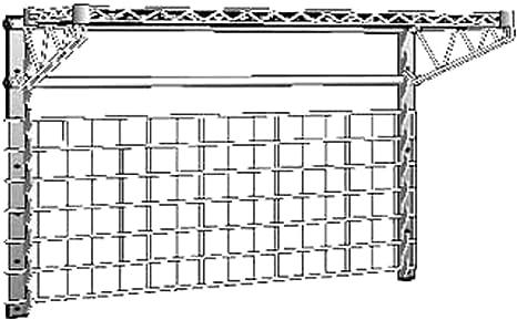 Metro WG1848BR SmartWall G3 18 x 48 Chrome Wall Grid