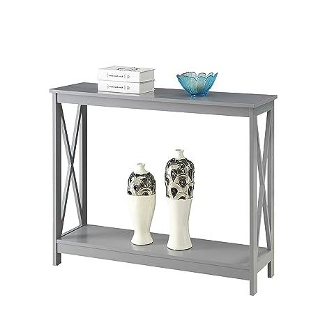 Fabulous Amazon Com Bestgoodshop Grey Wood Console Sofa Table With Inzonedesignstudio Interior Chair Design Inzonedesignstudiocom