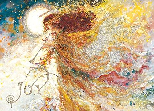(Performing Arts Glitter Embellished, Full Color Inside Design Golden Angel 2 Stationery Paper, 66164-14)