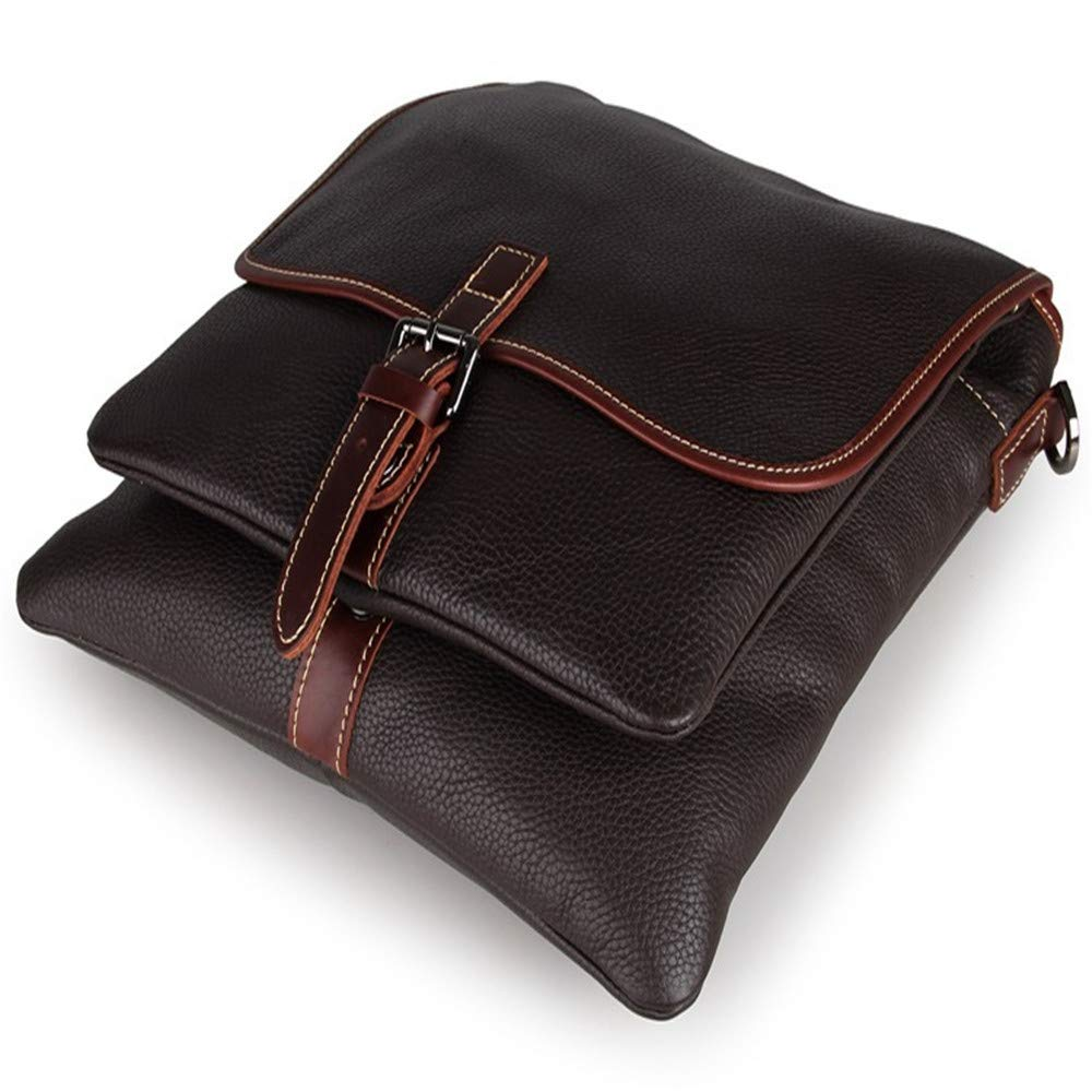 Amyannie Laptop Messenger Bag Men's and Women's Leather Postman Shoulder Bag Can Hold IPad Tablet Bag Briefcase Laptop Messenger Bag (Color : Brown) by Amyannie (Image #7)