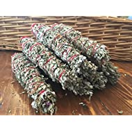 "Native American Lavender Sage Smudge Stick - Arizona Grown, Harvested, Blessed. Cleanse, Bless, Heal. POWERFUL! (8"")"