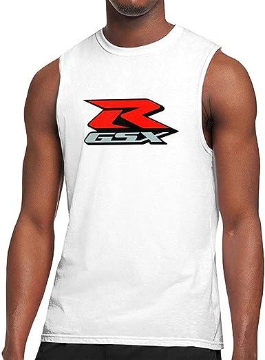 GDESFR Art Suzuki-gsx-r-Logo Camiseta sin Mangas de algodón ...