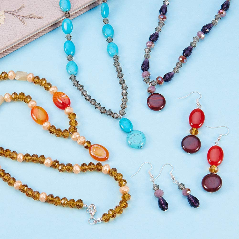 SUNNYCLUE Kit de Fabrication de Bijoux Pinces Accessoires Perles Assorties Fil de Perle et Cordon Bo/îtier en Plastique pour Bricolage Boucles doreilles Faisant