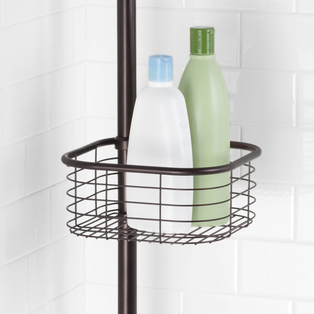InterDesign Forma Constant Tension Shower Caddy – Square Bathroom Storage Shelves for Shampoo, Conditioner and Soap, Bronze by InterDesign (Image #5)
