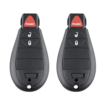 Aupoko GQ4-53T Keyless Entry Remote Key Fob, 3 Buttons Smart Key 56046953,56046953AE, 56046953AC,56046953AG, Fits for Dodge Ram 1500 2500 3500-2 PC: Automotive