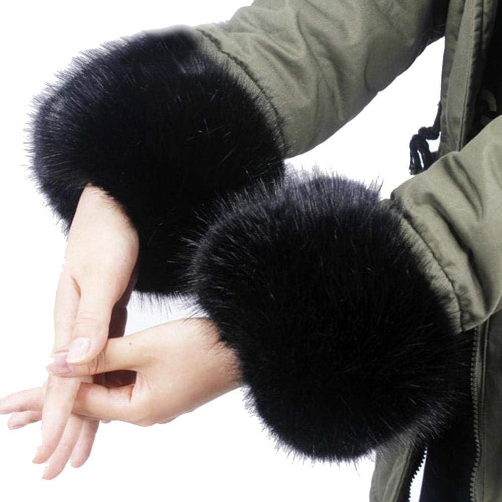 Luckyx Scaldamuscoli in Pelliccia Sintetica Morbidi e Soffici per Abbigliamento Autunno//Inverno a da Donna