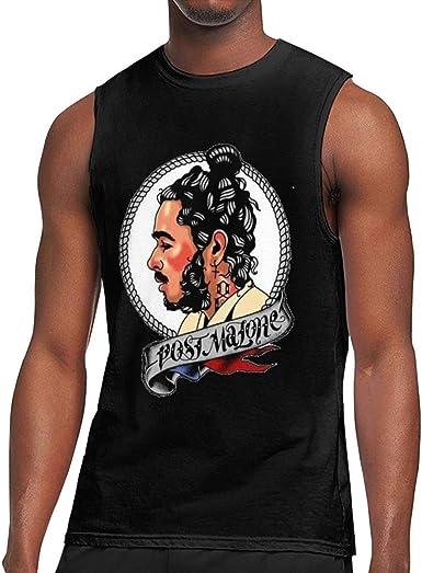 Camiseta sin Mangas para Hombre, Camisa de Entrenamiento sin Mangas Post Malone, Negra: Amazon.es: Ropa y accesorios