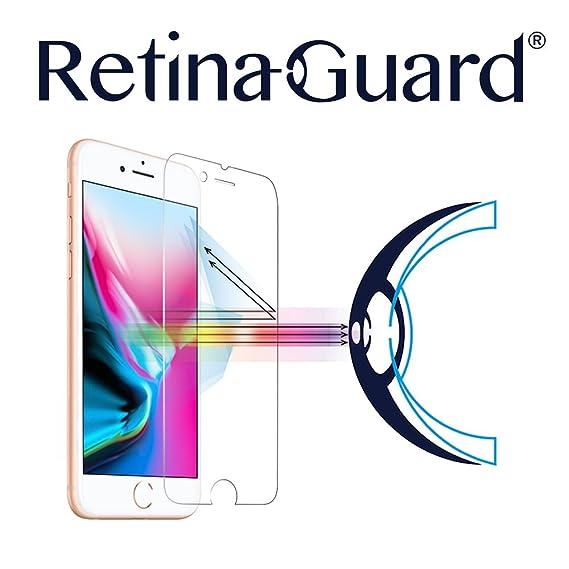 Protector de pantalla contra la luz azul, de vidrio templado, RetinaGuard, para iPhone