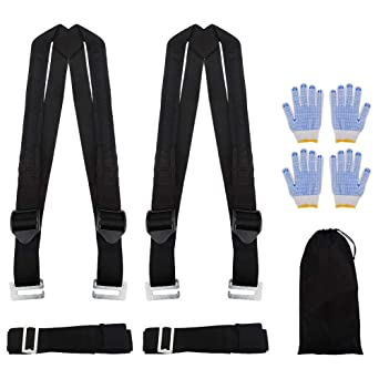Lift Carry And Secure Furniture MYFREE 2-Person Moving and Lifting Straps Easily Move Appliances Moving Straps Heavy Objects Without Back Pain