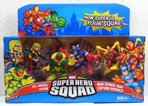 Marvel Super Hero Squad Ms Vision CPT America Avengers