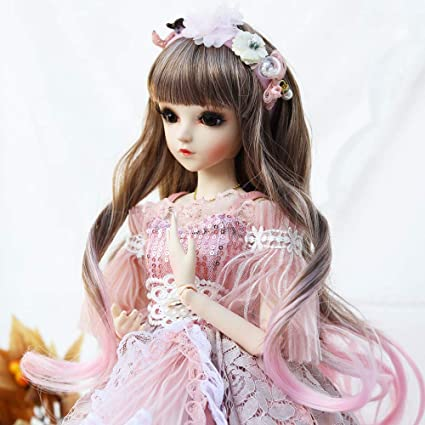 Outfit Shoes Wig Makeup SD Dolls 1//3 BJD Girl Doll High Quality Handmade Dress
