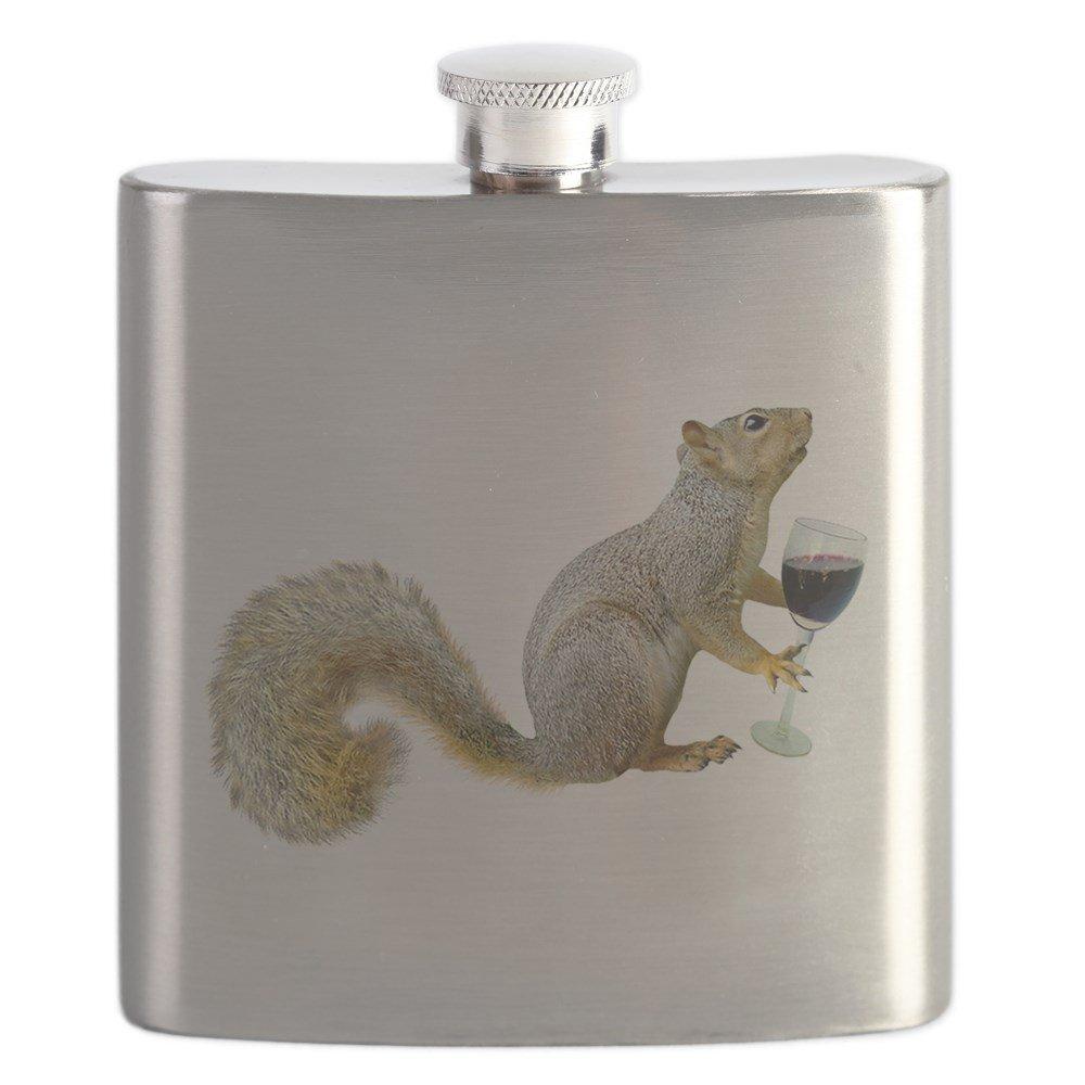 人気特価 CafePress by - Squirrel With CafePress Wine - Stainless With Steel Flask, 6oz Drinking Flask by CafePress B01IUEX1QC, 下田村:0781c3ca --- advertdigitalmantra.com