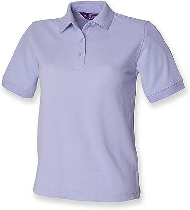 Henbury - camiseta tipo polo para mujer, de piqué Verde morado 40 ...