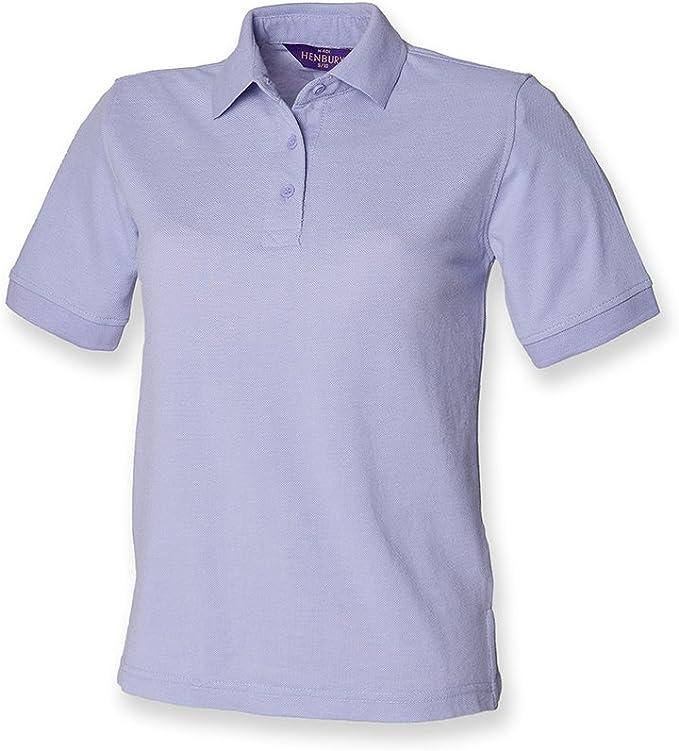 Henbury - camiseta tipo polo para mujer, de piqué Verde morado 46 ...