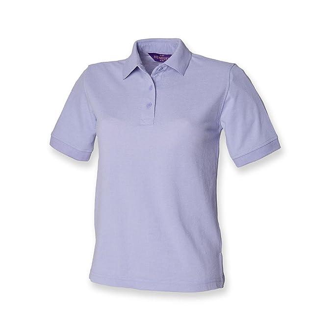 Henbury - camiseta tipo polo para mujer, de piqué Morado morado 48 ...