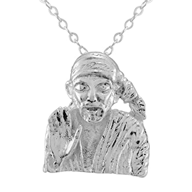 Good Luck Sai Baba Silver Pendant With FREE CHAIN 17940: Amazon in