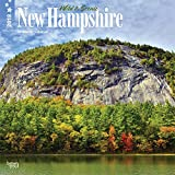 New Hampshire, Wild & Scenic 2018 12 x 12 Inch Monthly Square Wall Calendar, USA United States of America Northeast State Nature (English, French and Spanish Edition)