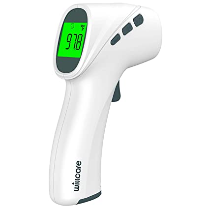 Forehead Thermometer Non-Contact Infrared Thermometer Instant Reading Touchless Thermometer for Baby Kids and Adults with LCD Display