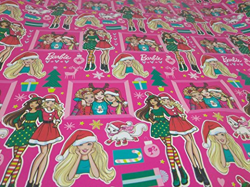 Christmas Wrapping Holiday Paper Gift Greetings 1 Roll Design Festive Wrap Barbie Elf -