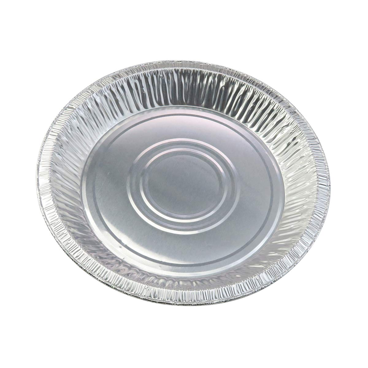 10'' (Rim to RIm 9-5/8'')  Disposable Aluminum Pie Pans #1042- Pack of 12 by Safca