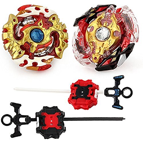 Bey Battling Top Blade Burst B-86 and B-100 Toys Creative Gift 2 Pcs/Set with Launcher Stater Set High Performance Battle Top by STORM GYRO