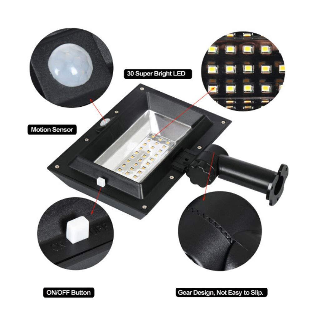 0 ℃ Outdoor 30 LED Solar Powered LED Proyector PIR Movimiento Sensor Reflector Exterior Seguridad Luz De Emergencia Impermeable para Jardín: Amazon.es: ...