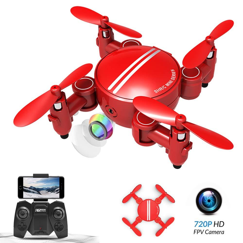 Rolytoy VraiJouet Mini Drone Plegable, App Control WiFi FPV con ...
