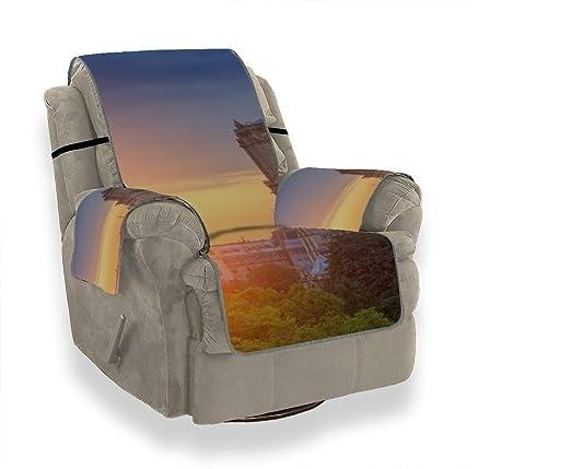 Otoño Octubre Wild Sunset Landscape Funda elástica para sofá ...