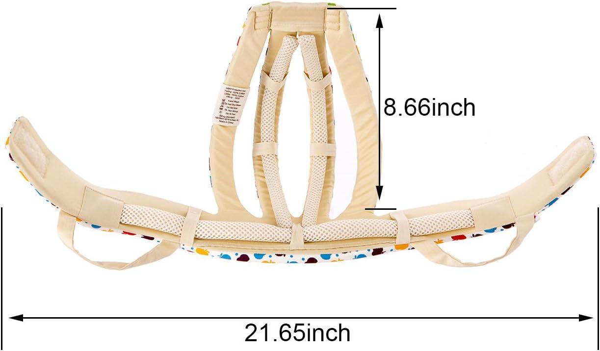 Newcomdigi Casco de Seguridad para Beb/é Ni/ño Infantil Gorra Antigolpes Sombrero para Proteger Cabeza Aprender Gatear Andar Caminar Correr Jugar Bicicleta con Ajustable Arn/és de Protecci/ón Colorido